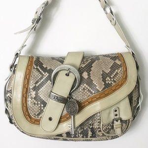 Christian Dior | Python Gaucho Saddle Handbag